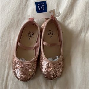 Baby gap pink sparkle ballet shoes